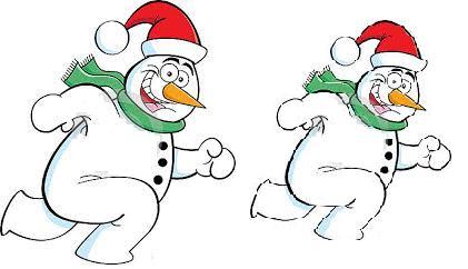 бегущие снеговики